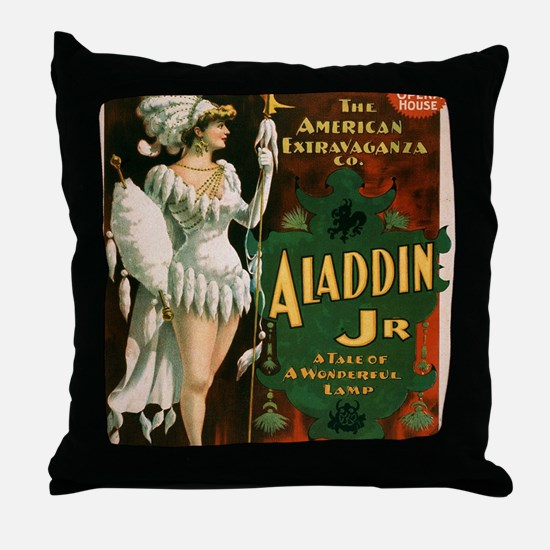 Cute Chicago theater Throw Pillow