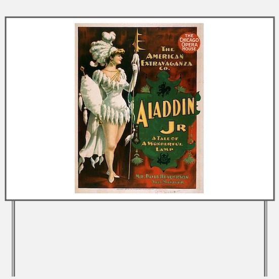 Vintage poster - Aladdin Jr. Yard Sign