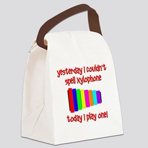 Funny Xylophone Canvas Lunch Bag