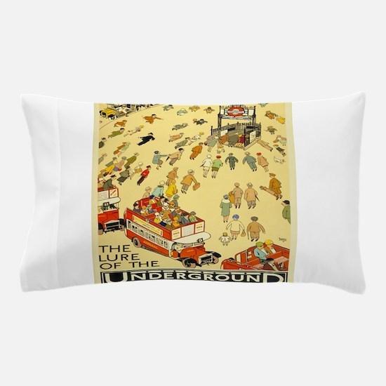 Vintage poster - London Underground Pillow Case