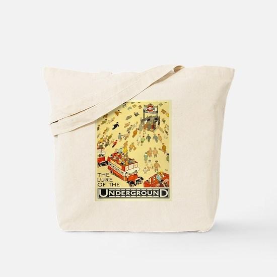 Vintage poster - London Underground Tote Bag