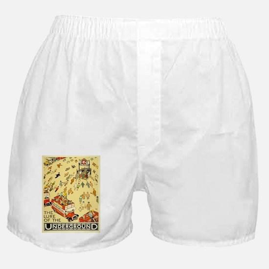 Vintage poster - London Underground Boxer Shorts