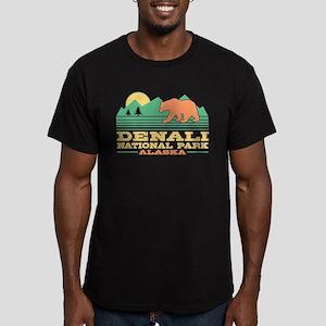 Denali National Park A Men's Fitted T-Shirt (dark)