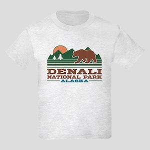 Denali National Park Alaska Kids Light T-Shirt
