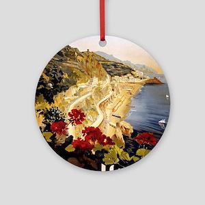 Vintage poster - Amalfi Round Ornament