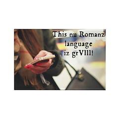 Romanz Text Speak Magnets
