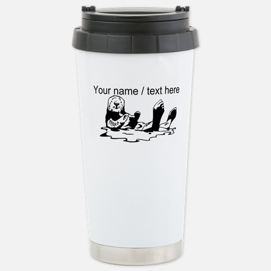 Custom Sea Otter Sketch Mugs