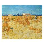 Van Gogh wheat field King Duvet