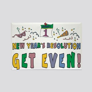 New Year Resolution Rectangle Magnet