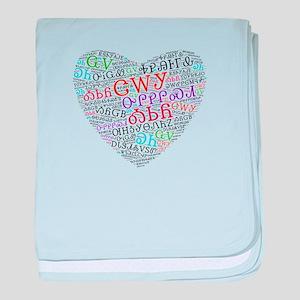 Cherokee Syllabary Heart baby blanket