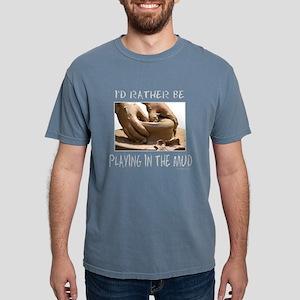 IdRatherBePlayingInTheMudBlackTee T-Shirt