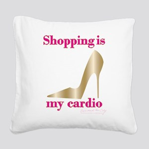 SATC Shopping Is My Cardio Square Canvas Pillow