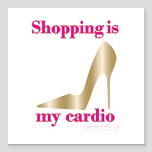 "SATC Shopping Is My Card Square Car Magnet 3"" x 3"""
