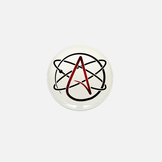 Modern Atheist Atomic Color Mini Button