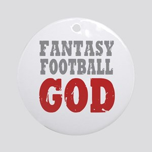 Fantasy Football God Ornament (Round)