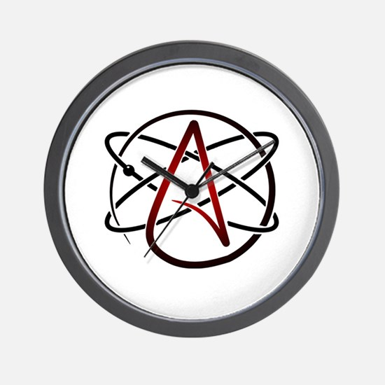 Modern Atheist Atomic Color Wall Clock