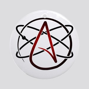 Modern Atheist Atomic Color Round Ornament
