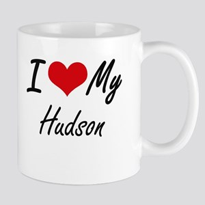 I Love My Hudson Mugs