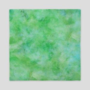 Bright Lime Green Watercolor Queen Duvet