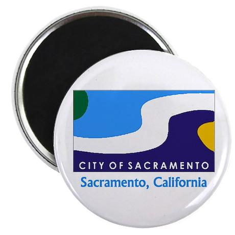 Sacramento CA Flag Magnet