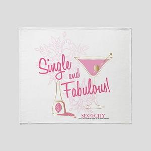SATC Single and Fabulous Throw Blanket