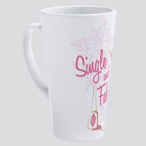 SATC Single and Fabulous 17 oz Latte Mug