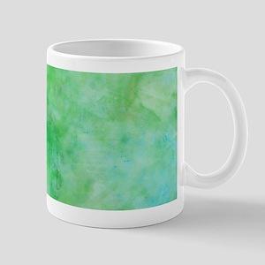 Bright Lime Green Watercolor Mugs