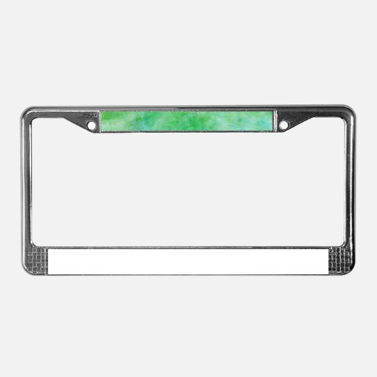 Bright Lime Green Watercolor License Plate Frame