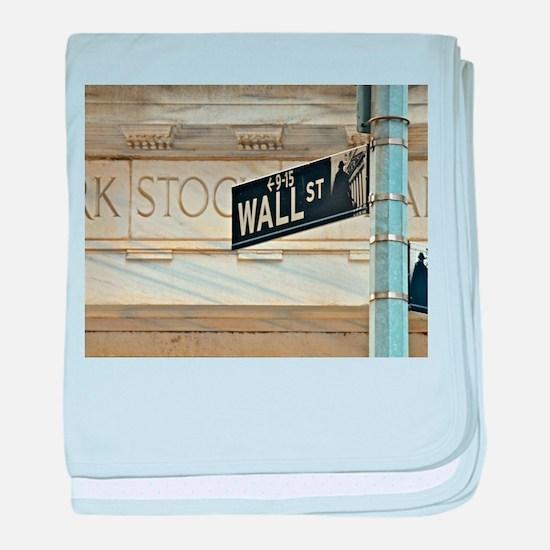 Wall Street! baby blanket