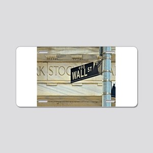 Wall Street! Aluminum License Plate
