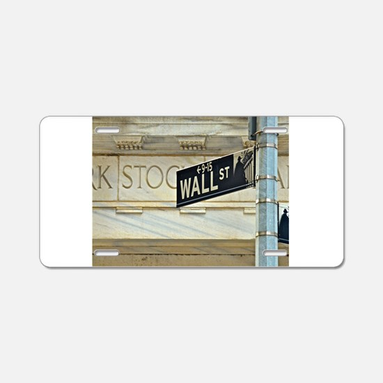 Wall Street! Aluminum License Plate