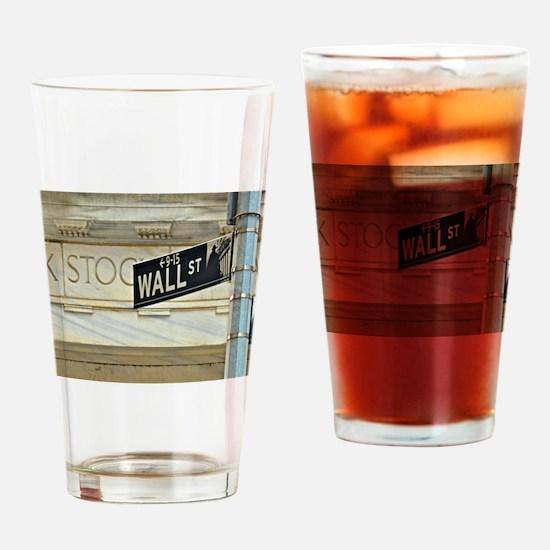 Wall Street! Drinking Glass