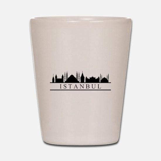 skyline istanbul Shot Glass