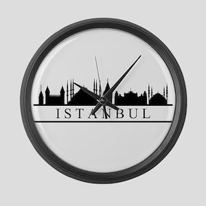 skyline istanbul Large Wall Clock