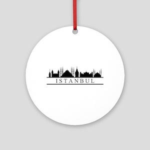 skyline istanbul Round Ornament