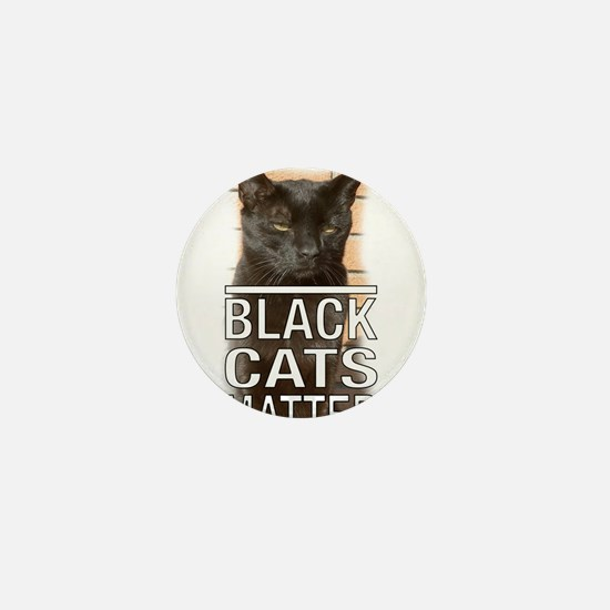 Black Cats Matter Mini Button