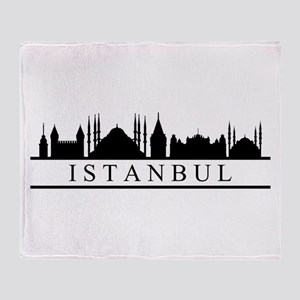 skyline istanbul Throw Blanket