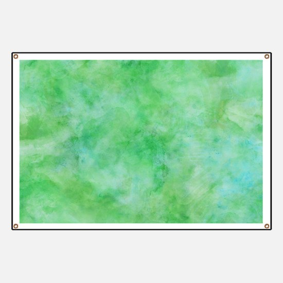 Bright Lime Green Watercolor Banner