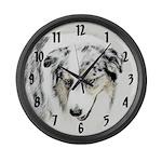 Australian Shepherd Large Wall Clock
