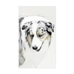 Australian Shepherd Sticker (Rectangle 10 pk)