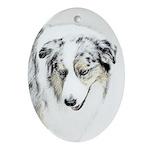 Australian Shepherd Oval Ornament