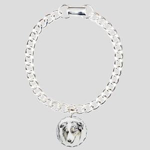 Australian Shepherd Charm Bracelet, One Charm