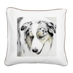 Australian Shepherd Square Canvas Pillow