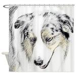 Australian Shepherd Shower Curtain