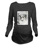 Australian Shepherd Long Sleeve Maternity T-Shirt
