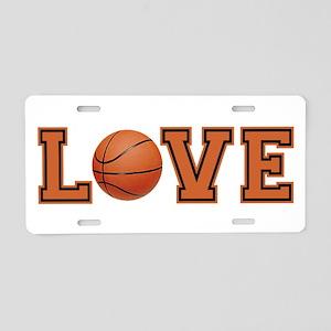 Love Basketball Aluminum License Plate