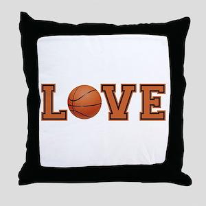 Love Basketball Throw Pillow