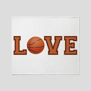 Love Basketball Throw Blanket