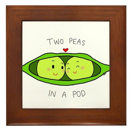 Two Peas In A Pod Framed Tile By Kinsellakreations
