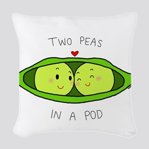 Two Peas in a Pod Woven Throw Pillow